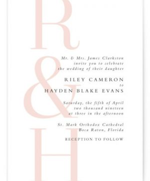 over and over Wedding Invitations