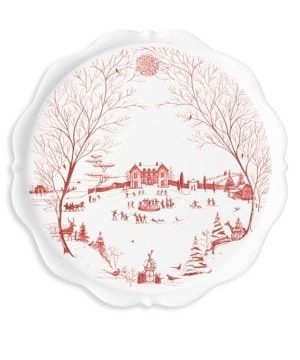 Country Estate Winter Frolic Serving Pedestal