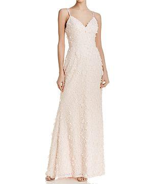 Eliza J Floral Lace Gown