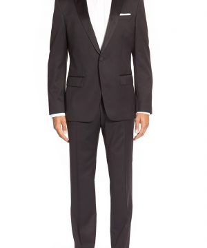 Men's Boss Trim Fit Wool Tuxedo