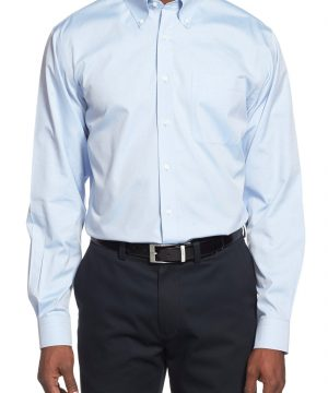 Men's Nordstrom Men's Shop Smartcare(TM) Traditional Fit Pinpoint Dress Shirt