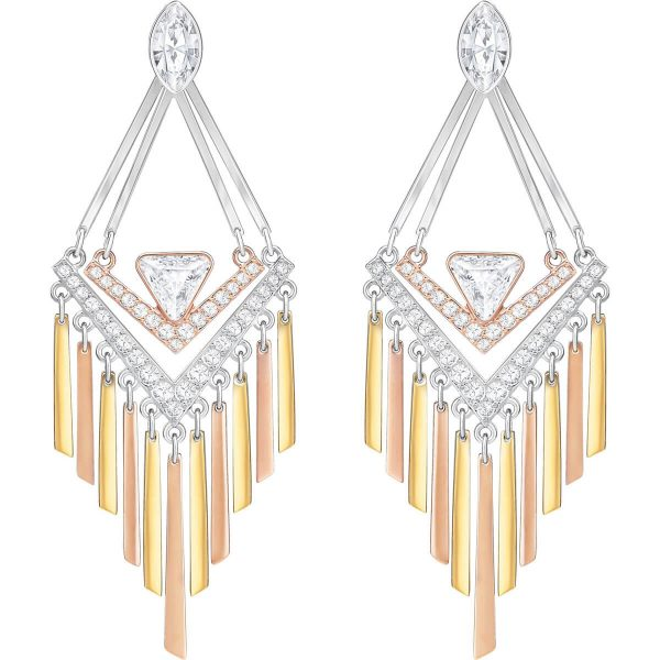 Swarovski Airy Pierced Earrings, White, Mixed Plating