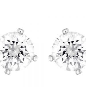 Swarovski Attract Pearl Pierced Earrings, White, Rhodium Plating