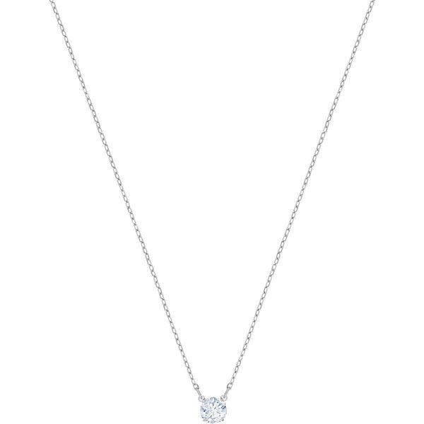 Swarovski Attract Round Necklace, White, Rhodium plating