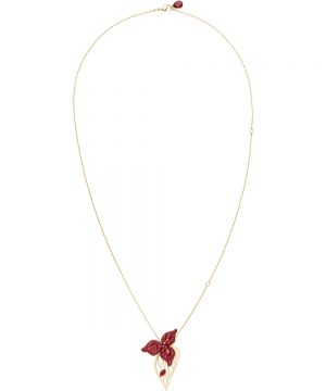 Swarovski Graceful Bloom Pendant, Champagne-gold plated