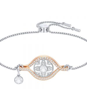 Swarovski Humanist Sun Bracelet, White, Mixed plating