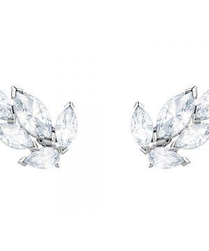 Swarovski Louison Stud Pierced Earrings, White, Rhodium plating