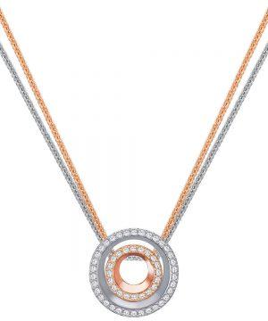 Swarovski Lovesome Circle Pendant, White, Mixed plating