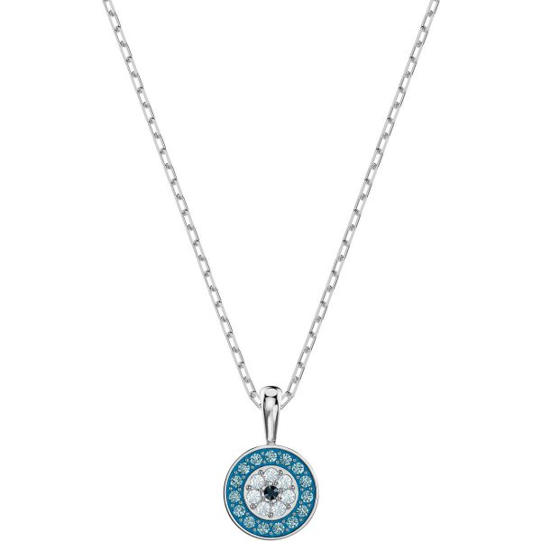 Swarovski Luckily Pendant, Multi-colored, Rhodium plating