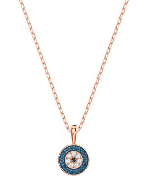 Swarovski Luckily Pendant, Multi-colored, Rose gold plating