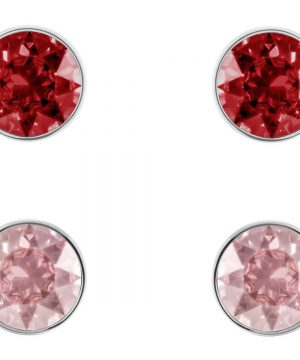 Swarovski Madyson Pierced Earring Set, Red, Rose gold plating