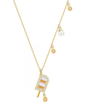 Swarovski No Regrets Ice Cream Pendant, Multi-colored, Gold plating