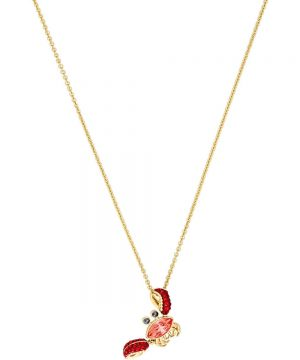 Swarovski Ocean Crab Pendant, Multi-colored, Gold plating