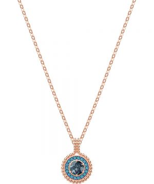 Swarovski Oxygen Pendant, Gray, Rose gold plating