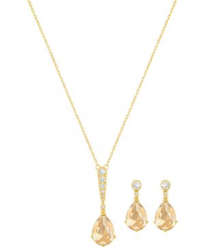 Swarovski Vintage Set, Golden, Gold Plating