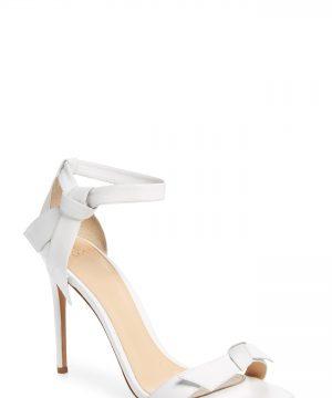 Women's Alexandre Birman 'Clarita' Ankle Tie Sandal, Size 11 M - White