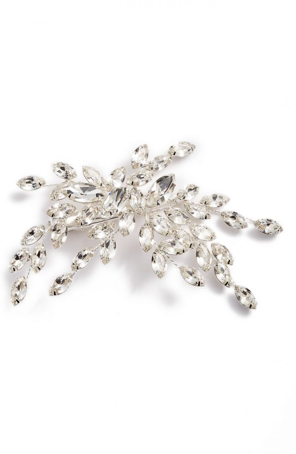 Brides & Hairpins Isadora Crystal Hair Clip, Size One Size - Metallic