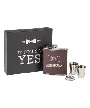 Cathy'S Concepts Groomsman Flask Set