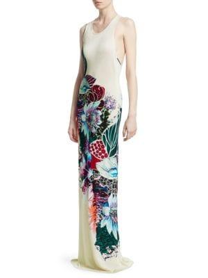Cutout Floral Maxi Dress