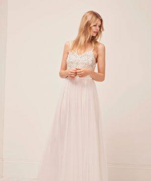 Genoa Embroidered Maxi Wedding Dress - summer white