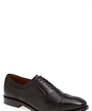 Men's Allen Edmonds 'Strand' Cap Toe Oxford, Size 12 E - Black