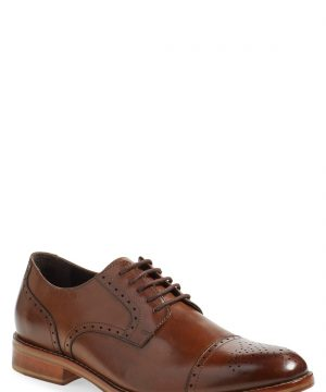 Men's J & m 1850 'Meritt' Cap Toe Derby, Size 8 M - Brown