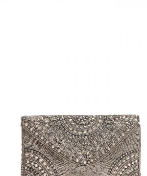 Nordstrom Alhambra Beaded Envelope Clutch - Metallic