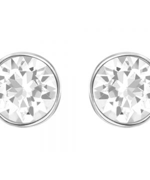 Swarovski Harley Pierced Earrings, White, Rhodium Plating