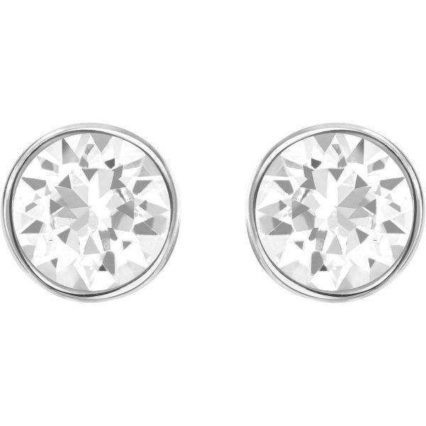Swarovski Harley Pierced Earrings, White, Rhodium Plating