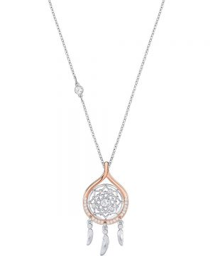 Swarovski Humanist Dream Catcher Pendant, White, Mixed plating