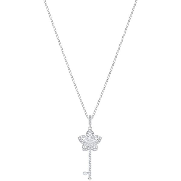 Swarovski Lady Key Pendant, White, Rhodium plating