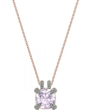 Swarovski Make up Pendant, Violet, Rose gold plating