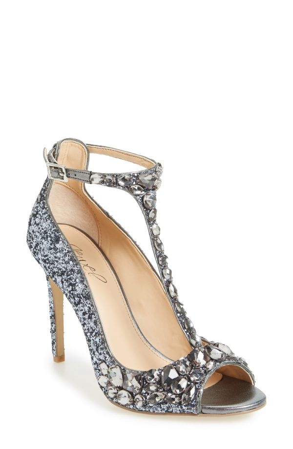 Women's Jewel Badgley Mischka Conroy Embellished T-Strap Pump