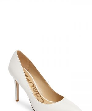 Women's Sam Edelman Hazel Pointy Toe Pump, Size 9.5 M - White