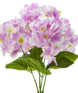 "18"" Lavender Artificial Hydrangea Bouquet - 24 Bunches"