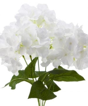 "18"" White Artificial Hydrangea Bouquet - 24 Bunches"
