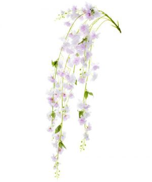 "55"" Lavender Hanging Artificial Flower Branch - 12 Branches"