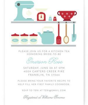 A Bridal Kitchen Tea Bridal Shower Invitations