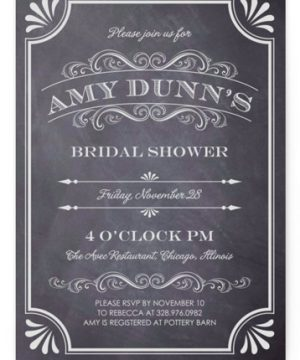 A Chalkboard Marriage Bridal Shower Invitations