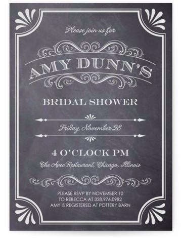 A Chalkboard Marriage Bridal Shower Invitations
