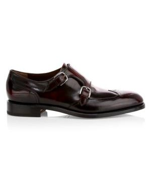 Adison Double Monk Strap Leather Dress Shoes