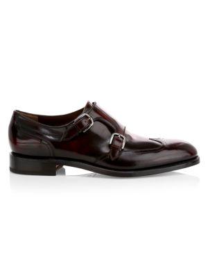 Adison Double Monk Strap Leather Dress Shoes