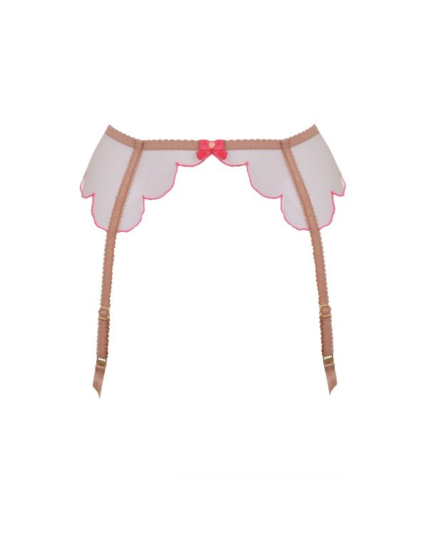 Agent Provocateur Lorna Nude And Pink Suspender