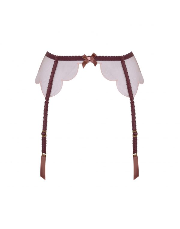 Agent Provocateur Lorna Suspender Brown And Peach