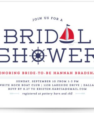 Ahoy Bridal Shower Invitations