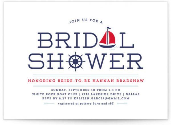 Ahoy Bridal Shower Invitations