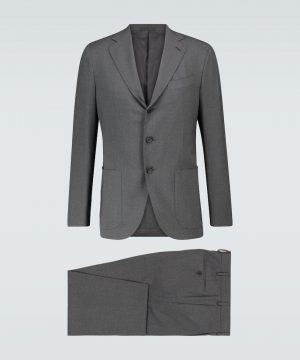 Aida slim-fit wool suit