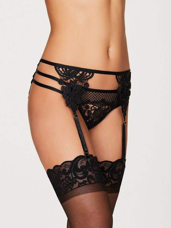 Alexa Zoe Guipure Lace Garter Belt FINAL CLEARANCE