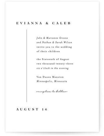 Aligned Wedding Invitations