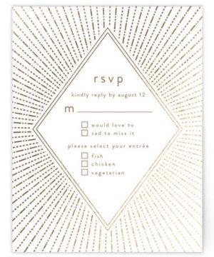 Apache Foil-Pressed RSVP CardsP Cards